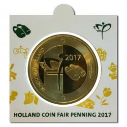 Officiële penning in munthouder 2017 'Holland Coin Fair' Thema Klompen. Aanbieding: tijdelijk van € 19,95 nu voor € 14,95 !