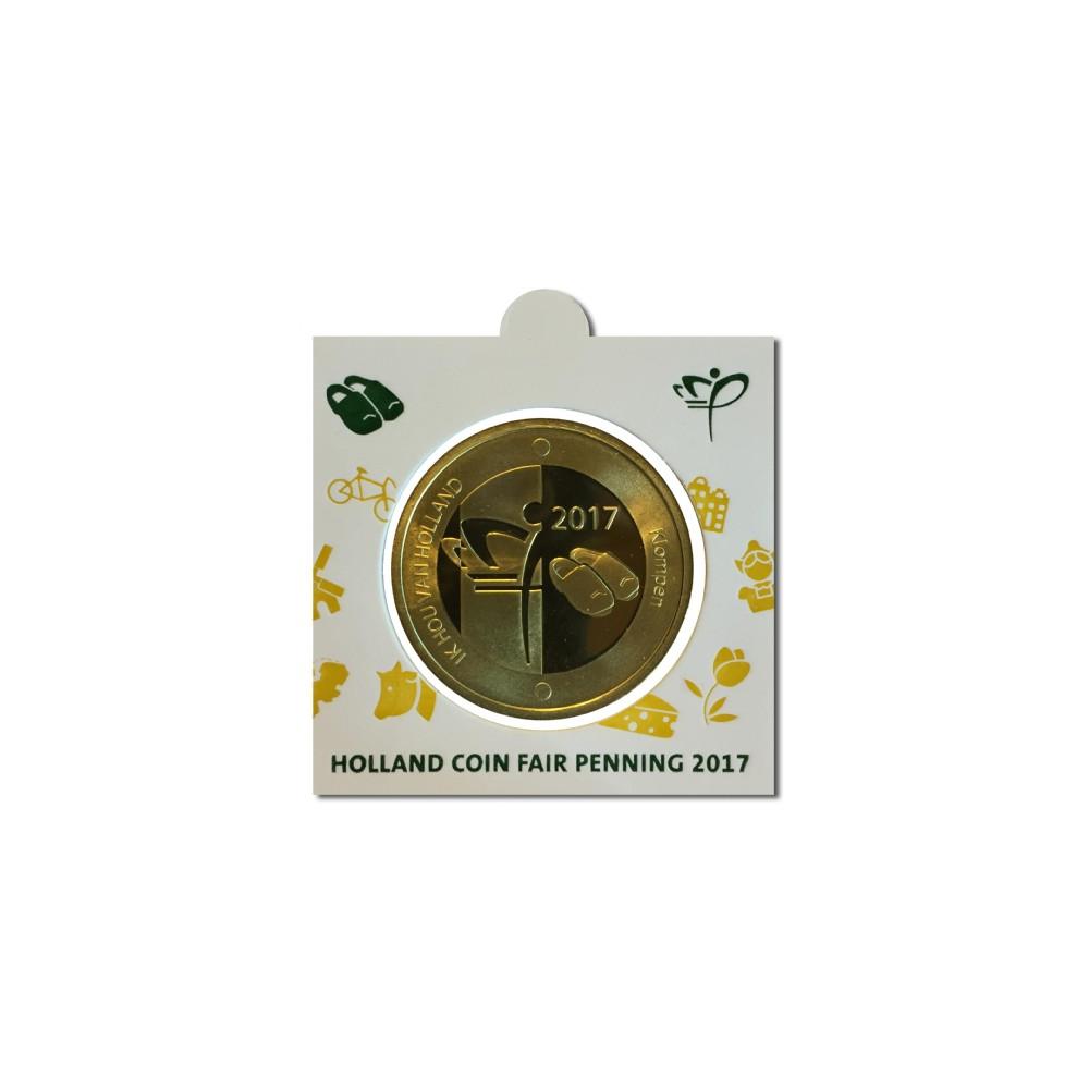 Officiële penning in munthouder 2017 'Holland Coin Fair' Thema Klompen.