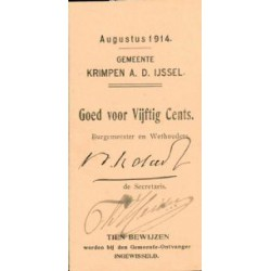 Krimpen a/d IJssel 50 cent 1914