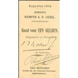 Krimpen a/d IJssel 1 gulden 1914