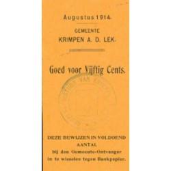 Krimpen a/d Lek 50 cent 1914