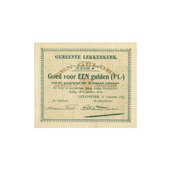 Lekkerkerk 1 gulden 1914