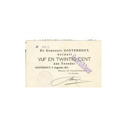 Oosterhout 25 cent 1914
