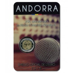 Andorra 2 euro 2016 'Radio' in blister