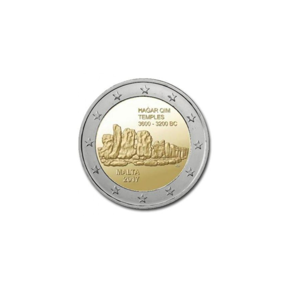 Malta 2 euro 2017 'Hagar Qim' mét F in onderste ster