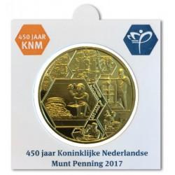 Nederland Officiële munthouder 450 jaar KNM penning 2017 in messing