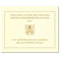 Vaticaan 2 euro 2017 in blister 'Pontificatie'
