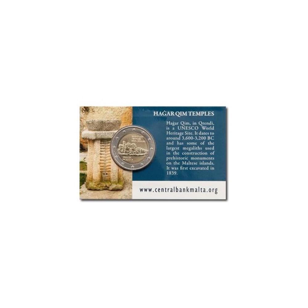 Malta 2 euro 2017 'Hagar Qim' - met Frans muntteken (Hoorn)