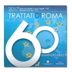Italië BU-Set 2017 + speciale 2 euro 2017 'San Marco - Venetië' + 5 euro Verdrag van Rome