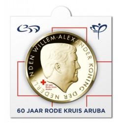 Officiële munthouder 5 florin 2017 Aruba '60 jaar Rode Kruis'