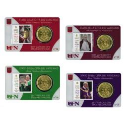 Vaticaan set van 4 coincards 2017 'Postzegel en munt' nr. 14 t/m 17