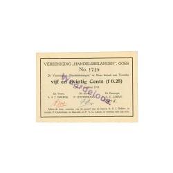 Goes, Vereniging Handelsbelangen 25 cent 1914