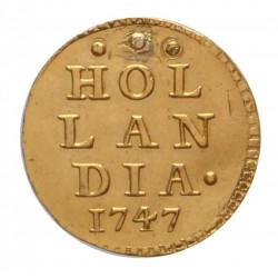 Holland Gouden 1 Bezemstuiver Afslag 1747