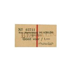 Vlissingen, de Schelde 1 gulden 1914