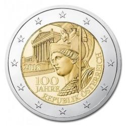 Oostenrijk 2 euro 2018 '100 jaar Republiek Oostenrijk'