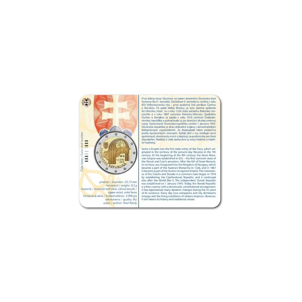 Slowakije 2 euro 2018 '25 jaar republiek Slowakije'