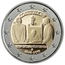 Italië 2 euro 2018 '70 jaar Italiaanse grondwet'