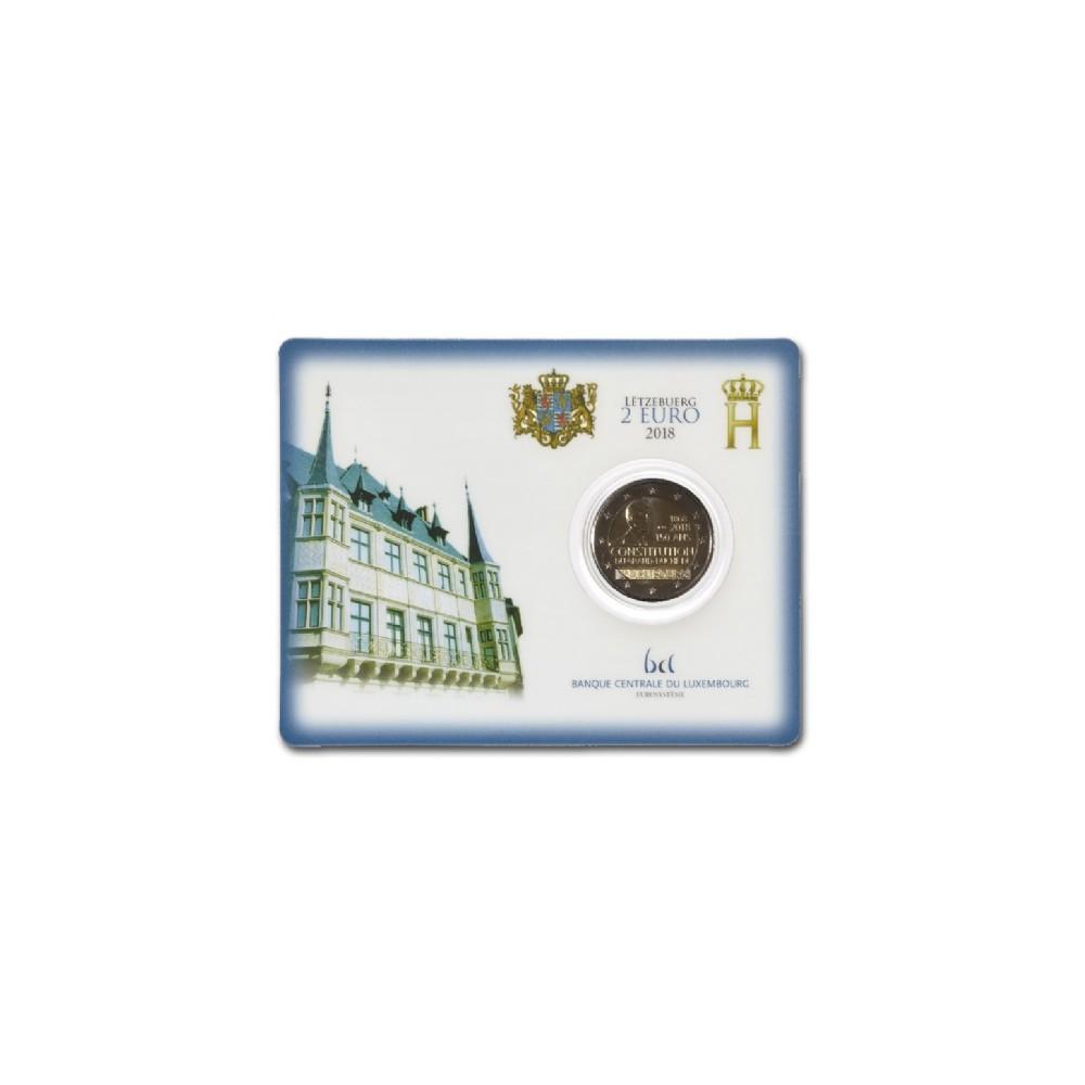 Luxemburg 2 euro 2018 '150 jaar Grondwet' in blister - Met Nederlands muntteken