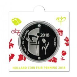 Nederland Officiële munthouder Holland Coin Fair penning 2018 in messing
