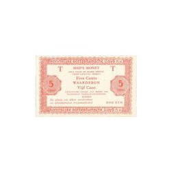 5 cent Ship's Money, serie K.Z.M 2 regels