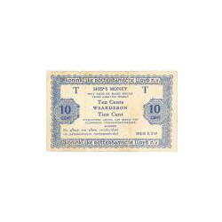 10 cent Ship's Money, serie K.Z.M 2 regels