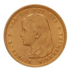 Koninkrijksmunten Nederland 10 gulden 1897 Parels los van de rand