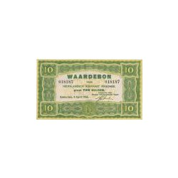 10 gulden groen, Waardebon voor Nederlandsch Rijnvaart Personeel 1946