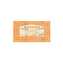 10 gulden oranje specimen, Waardebon voor Nederlandsch Rijnvaart Personeel 1946