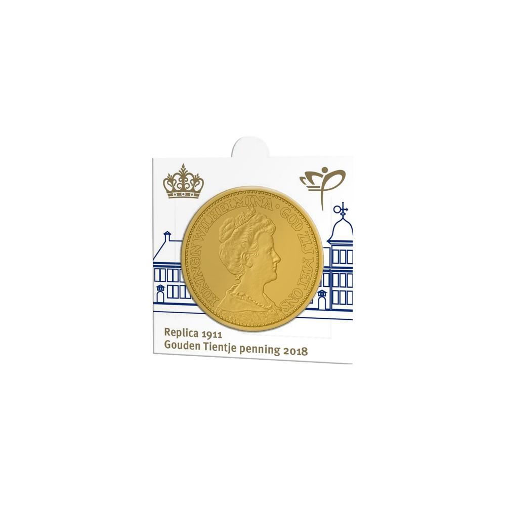 Nederland Officiële munthouder 2018 'Replica eerste Gouden Tientje 1911'