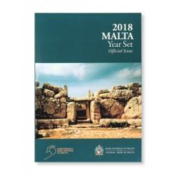 Malta BU-Set 2018 incl. 2 euro 'Mnajdra Tempels' met F in ster