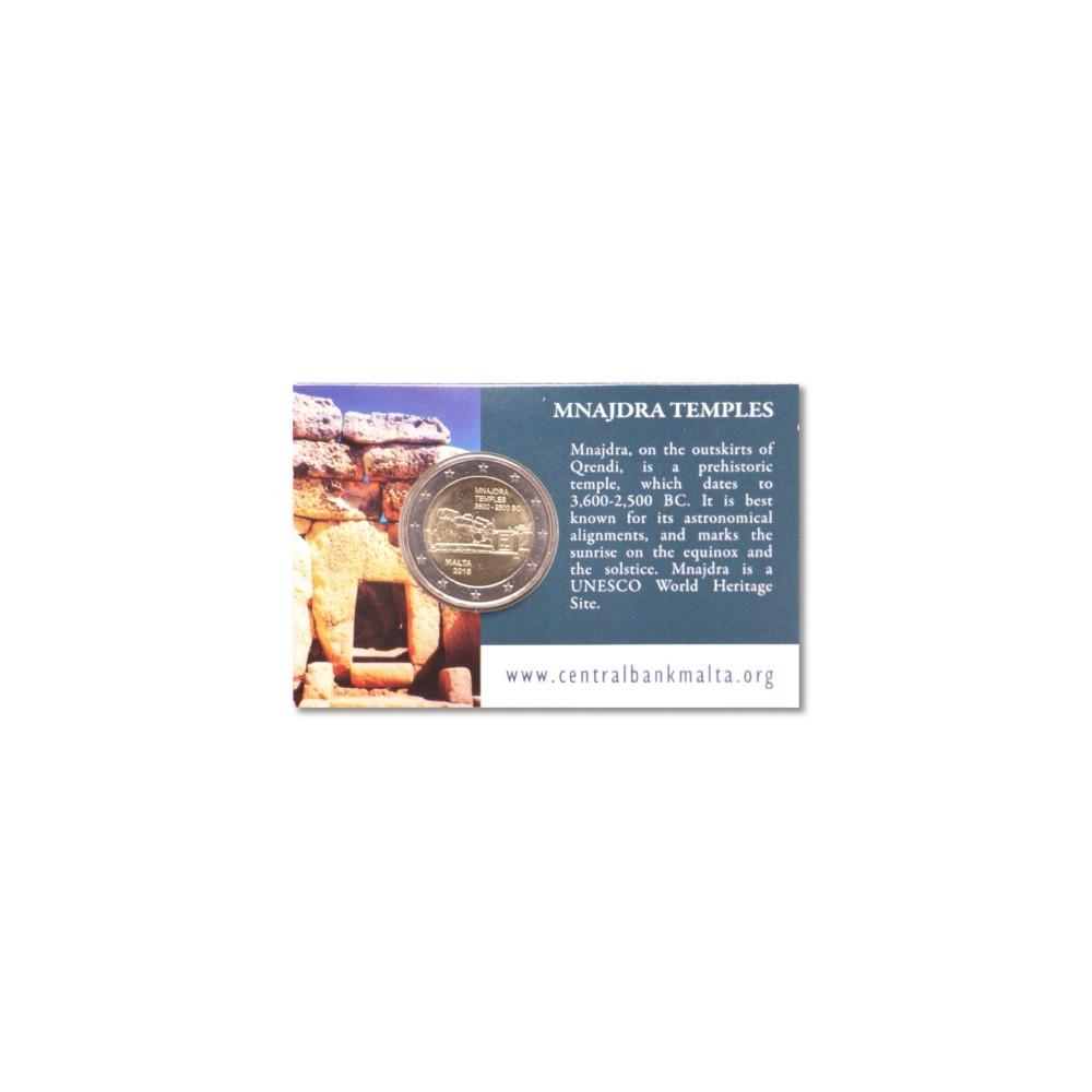 Malta 2 euro 2018 'Mnajdra Temples' in coincard - LET OP: Géén muntmeesterteken