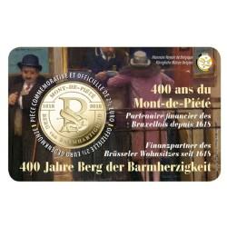 België 2½ euro 2018 'Berg van Barmhartigheid' Coincard Frans/Duitse tekst