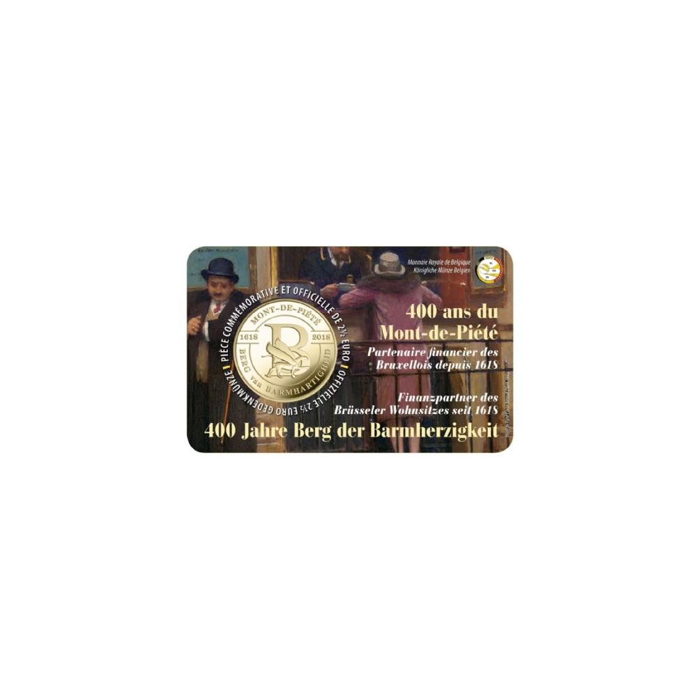 België 2,5 euro 2018 'Berg van Barmhartigheid' Coincard Frans/Duitse tekst