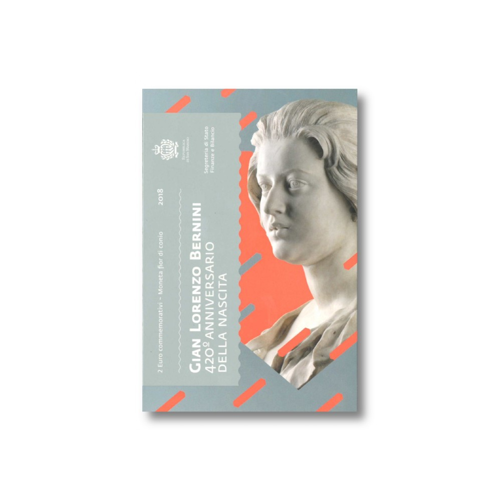 San Marino 2 euro 2018 in blister 'Bernini'
