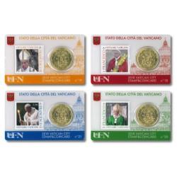 Vaticaan set van 4 coincards 2018 'Postzegel en munt' nr. 18 t/m 21