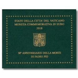 Vaticaan 2 euro 2018 in blister 'Padre Pio'