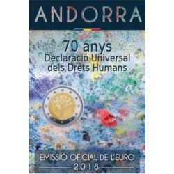 Andorra 2 euro 2018 'Mensenrechten'