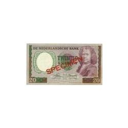 Nederland 20 Gulden 1955 'Boerhaave' Specimen