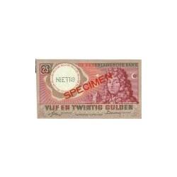 Nederland 25 Gulden 1955 'Huygens' Specimen