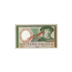Nederland 1000 Gulden 1956 'Rembrandt' Specimen