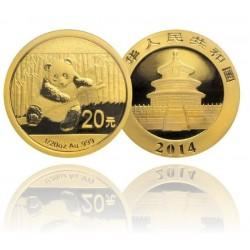 China 20 yuan Gouden Panda - 1/20 OZ (goud)
