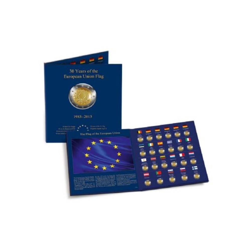 Leuchtturm PRESSO 2 euromunten verzamelmap '30 jaar Europese vlag'