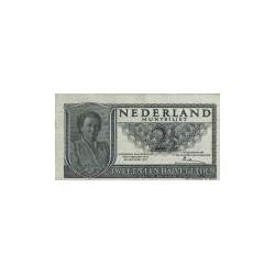 Nederland 2½ Gulden 1949 'Juliana' Misdruk