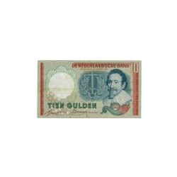 Nederland 10 Gulden 1953 I 'Hugo de Groot' Misdruk