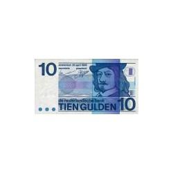 Nederland 10 Gulden 1968 'Frans Hals' Misdruk