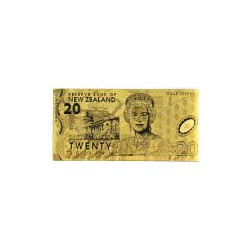New Zealand 20 dollar biljet in Goud