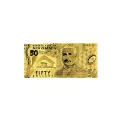 New Zealand 50 dollar biljet in Goud