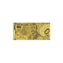 New Zealand 100 dollar biljet in Goud