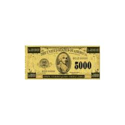 USA 5000 dollar biljet in Goud