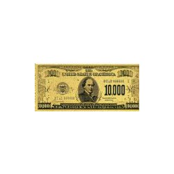 USA 10.000 dollar biljet in Goud